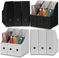 Simple Houseware Whiteblack Magazine File Holder Organizer Box Pack Of 12