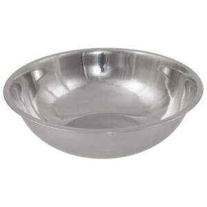 CRESTWARE MBP08 Mixing Bowl,Stainless Steel,8 qt.