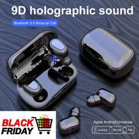 Bluetooth 5.0 Headset TWS Wireless Earphones Stereo Earbud In-Ear Mini Headphone