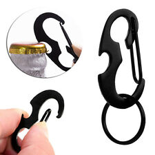 New Outdoor D Ring Shape Stainless Steel Hanging Buckle Snap Clip Hook Keychain