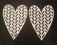 Sizzix Die Cutter  DECORATIVE HEART  Thinlits fits Big Shot Cuttlebug