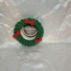 "Jax & Bones Good Karma Rope Chew Toy Holiday Wreath Ring 5.5"" Washable NWT"