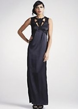 FRENCH CONNECTION BLACK EMBELLISHED MY FAIR MAIDEN LONG MAXI DRESS WORN ONCE