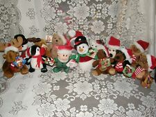RARE  - 14  SEARS Charity Christmas Bean Plush  Animals 1998-2011 with /Tags