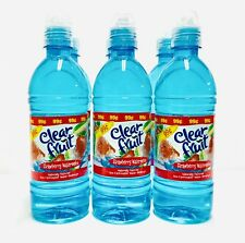Clear Fruit Strawberry Watermelon Flavored Water 6 16.9oz Bottles NEW SEALED