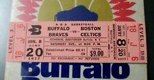 1977 BUFFALO BRAVES BASKETBALL FULL TICKET MEMORIAL AUDITORIUM THE AUD CELTICS