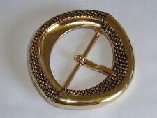 Gürtelschnalle Schließe Schnalle Verschluss  5 cm gold NEUWARE rostfrei #513.2#