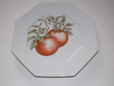 "Fitz And Floyd ""Potager"" - 10"" Octagonal Plate - Red Tomato Design"