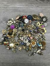 Lot of Vintage Single Clip on Earrings for Crafts
