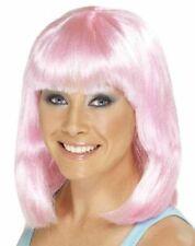 Damen Kostüm Cheerleader Perücke Pink Party Bob Perücke Von Smiffys