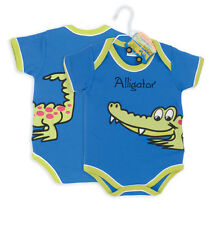 Aligator Baby Grow Boy Clothes Gift - 0-6 months