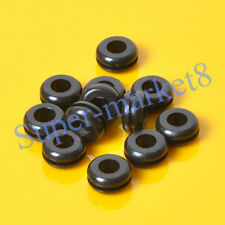50pcs 10x6mm Black Rubber Grommet Firewall Hole Plug Wiring Electrical Wire Amp