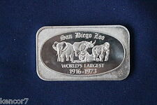 USSC 1973 San Diego Zoo Silver Art Bar D5121