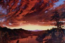 502097 Twilight In The Wilderness Frederick Edwin Church A4 Photo Print