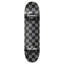 Yocaher Graphic Complete Skateboard - Checker Silver