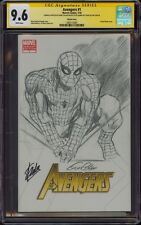 AVENGERS 1 CGC 9.6 2X SS GENE COLAN SKETCH ART SPIDER-MAN SIGNED STAN LEE MINT