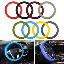 38cm Auto Car Silicone Steering Wheel Cover Anti-Slip Nib Sturdy Massage Grip