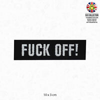 F**k Off Words Text Slogan Patch Iron On Patch Sew On Embroidered Patch