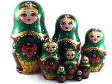 Matroschka puppe Babuschka Matrjoschka Russische holzpuppen Original 8 tlg 17 cm
