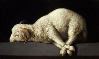 Oil painting francisco de Zurbarán - Agnus Dei (The Lamb of God) sheep canvas