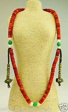 Élegant Tibet Mala Corne De Buffle Turquoise Buddha Dorje Cloche Cabinet 113f