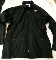 Vintage Mens SM Nike Elite Windbreaker Jacket Black Full Zip Pockets Nylon