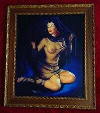 Estate Sale! ELVGREN ELEGANCE NUDE Original Painting Rare famous PinUp Lingerie
