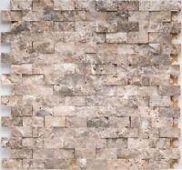 Naturstein Mosaik Marmor braun Wand Küche Wc Fliesenspiegel   |1Matte|ES-53322