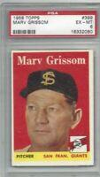 1958 Topps baseball card #399 Marv Grissom, San Francisco Giants graded PSA 6