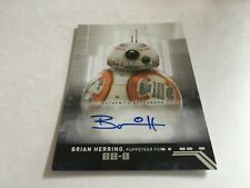 Topps Star Wars Rise Of Skywalker Series 1 Autograph Brian Herring as Bb-8