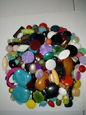 Broken jewelry pieces cleaned up and ready for art or repurposing. Great variety
