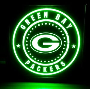 Green Bay Packers LED Sign Personalized, Home bar pub Sign, Lighted Sign
