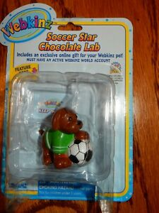 "Webkinz Figurine ""Soccer Star Chocolate Lab""  Soccer Dog Cute mini figurine"