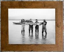 Remarkable... Men Holding Large Sturgeon , Fishing  ... Antique 8x10 Photo Print