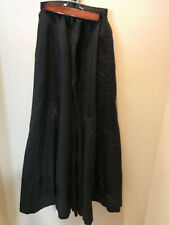 Black Wool'Ish (Gaberdine?) Victorian Skirt With Satin Band At The Bottom.
