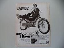 advertising Pubblicità 1971 PIAGGIO BOXER 50