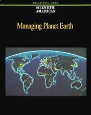 Managing Planet Earth by Scientific American Editors (1990, Paperback)