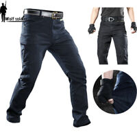Mens Military Tactical Jeans Army Combat Pants Cargo Multi Pocket Casual Hiking