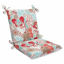 PILLOW PERFECT OUTDOOR SUZANNE SPRING CHAIR CUSHION PAD COVER SQUARED CORNERS