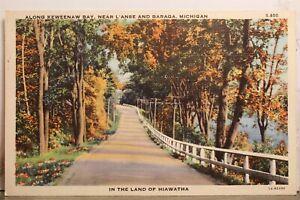 Michigan MI L'Anse Baraga Keweenaw Bay Land of Hiawatha Postcard Old Vintage PC