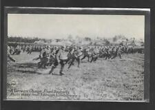 World War 1 WW1 - RPPC Real Picture Post Card - German Charge w/ Fixed Bayonets