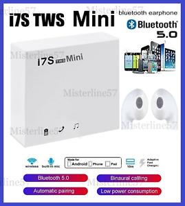 AURICOLARI CUFFIE BLUETOOTH 5.0+EDR i7 MINI WIRELESS COMPATIBILI iOS ANDROID