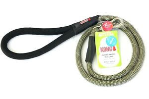 Kong Padded Handle Rope Leash Green 4 FT L x 0.5 In W  1.2 m x 1.27 cm