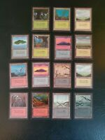 15 cards Complete set Collectors Edition CE basic lands Magic Played beta