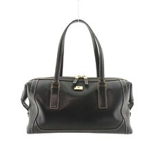 Auth Salvatore Ferragamo Mini Boston Hand Bag Black Leather AU-21 1863 #f22949