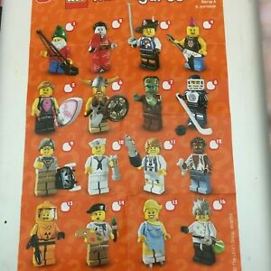 GENUINE LEGO MINIFIGURES FROM  SERIES 4 CHOOSE THE ONE YOU NEED