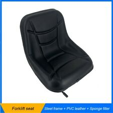 Universal Forklift Seat Agricultural Machinery Waterproof Seat Steel Frame Black