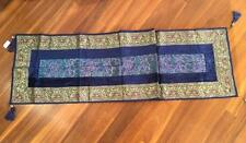 NWOT  Embroidered Blue Toned Table Runner
