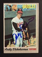 Andy Etchebarren Orioles Signed 1970 Topps Baseball Card #213 Auto Autograph