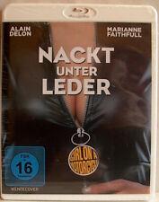 NACKT UNTER LEDER - BLU RAY - ALAIN DELON - MARIANNE FAITHFULL - KULT - OVP!